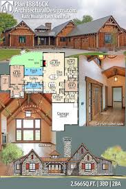 100 Mountain Home Architects Architectural Designs Rustic House Plan 18846CK