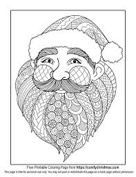 Free Printable Santa Christmas Coloring Page To Download From Comfychristmas