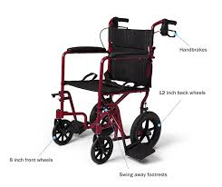 Invacare Transport Chair Manual by Amazon Com Medline Lightweight Transport Folding Wheelchair