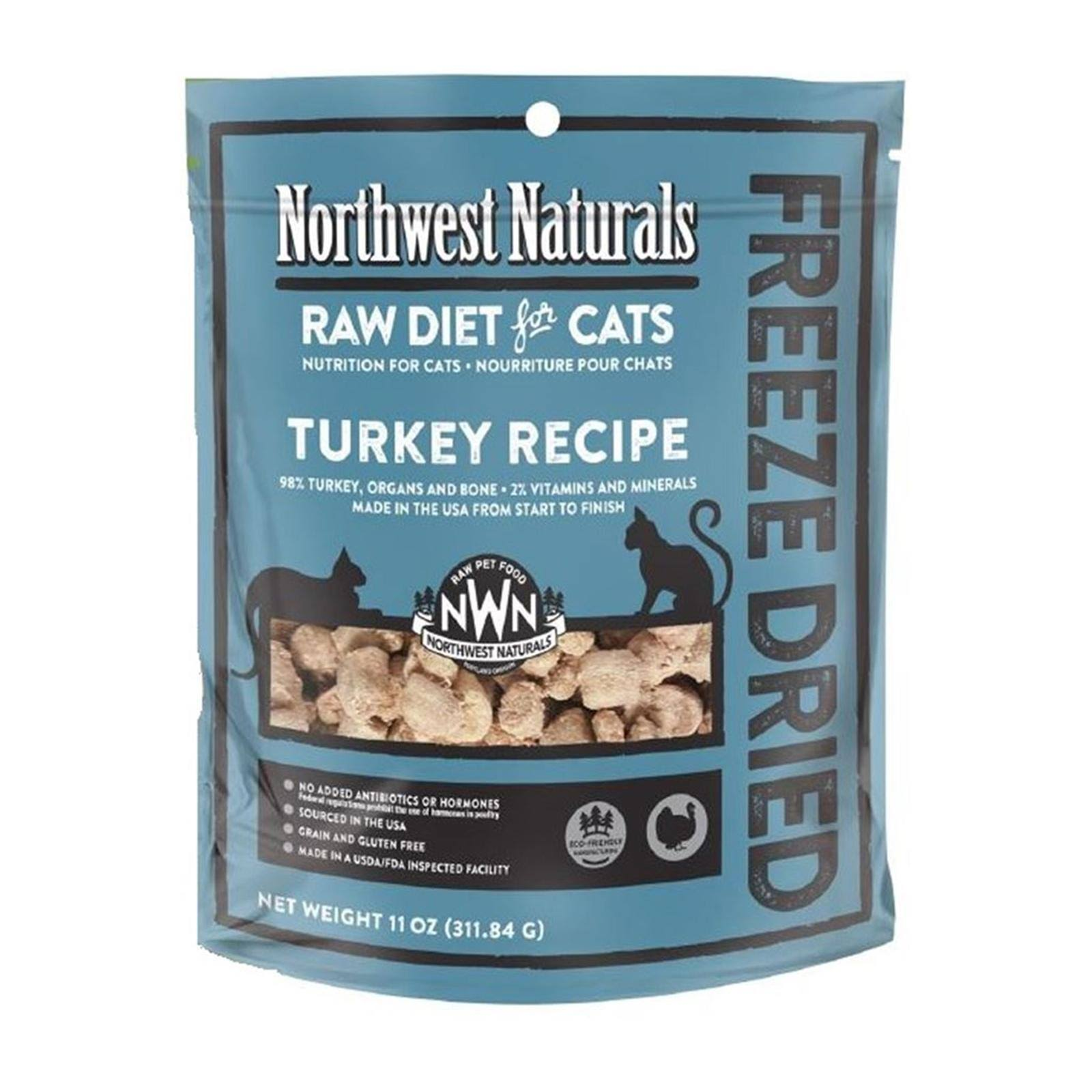 Northwest Naturals Freeze Dried Raw Diet For Cats - Turkey Recipe