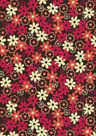 Funky Brown Flowers Scrapbook Paper