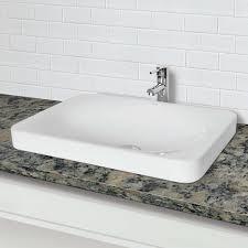 Where Are Decolav Sinks Made by Semi Recessed Rectangular Bathroom Sink Best Bathroom Decoration