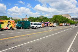 100 Food Trucks In Dc Today A Row Of Food Trucks On A Road In National Mall May 2 2015