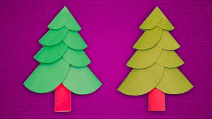 Paper Christmas Craft Ideas How To Make A Tree With Color DIY Xmas Decor