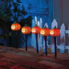 Halloween Yard Stake Lights by Pumpkin Pathway Battery Operated Lawn Stakes Halloween Decoration