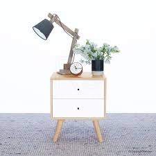 ZOUQILAI Bedside Table Nightstand With 1 Drawers Bedroom Side Table