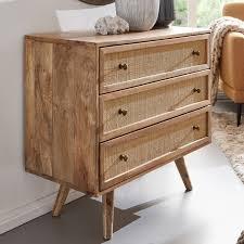 sideboard 80x75x40 cm mango massivholz vintage anrichte kommode 3 schubladen hoher kommodenschrank holz massiv standschrank wohnzimmer