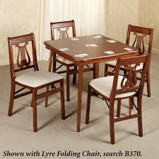 Stakmore Folding Chairs Fruitwood by Scalloped Folding Card Table