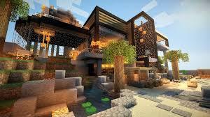 maison de luxe minecraft idée maison moderne en bois minecraft