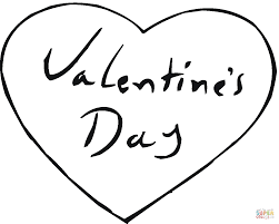 Valentines Day Hearts Coloring Pages Heart Free Printable Pictures For Kids