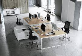 mobilier bureau bureaux mélaminé pieds métal ubia mobilier bureau 94