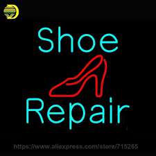 Neon Sign Turquoise Shoe Repair Sandal Neon Light Sign Neon Bulb