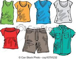 Summer Clothes For Boys Clipart