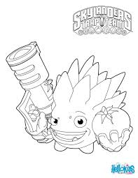 Skylanders Trap Team Coloring Pages Food Fight 229598 Az