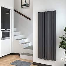 heizkörper flach vertikal design paneelheizkörper 1600x600 mm flachheizkoerper heizung mittelanschluss 2036w anthrazit doppellagig radiator für
