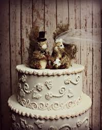 Private Listing For Jonelle Squirrel Wedding Cake Topper Rustic