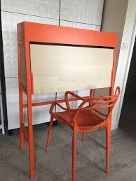 bureau kartell ikea ps bureau desk in orange kartell masters style chair in
