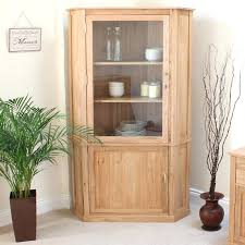 Corner Display Cabinets Living Room The Oak Large Cabinet Is A Stunning Piece Of