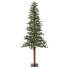 Realistic Artificial Christmas Trees Canada by Shop Vickerman 6 Ft Pre Lit Winterberry Slim Artificial Christmas