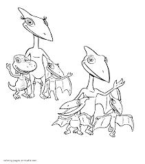 All Dinosaur Family Members Coloring Page