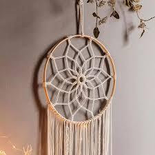 meiyou traumfänger handgefertigt großer boho traumfänger mit weißer makramee wandbehang ornament schlafzimmer wohnzimmer dekoration