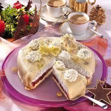 marzipan mohn torte mit pflaumen