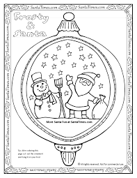 Christmas Tree Ornaments Printable Coloring Pages by Frosty U0026 Santa Tree Ornament