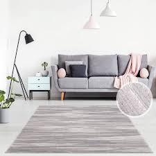 teppich modern wolle linien streifen design wohnzimmer grau