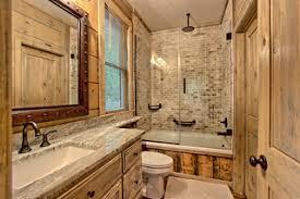 75 rustikale badezimmer mit gebeiztem holzboden ideen