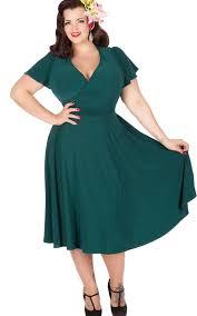 Plus Size Vintage Dresses 50s Style Designed For Curves FgNfAN3v