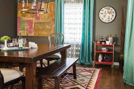 Eclectic Curtains Dining Room With Red Cart Contemporary Wine And Champagne Buckets