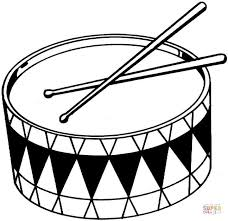 Click The Drums Coloring Pages To View Printable Version Or Color It Online Compatible With IPad And Android Tablets
