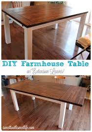 DIY Farmhouse Table With Extension Leaves Diy Dining Room Farm
