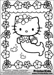13 Pics Of Hello Kitty Coloring Pages Pdf Mermaid Pertaining To