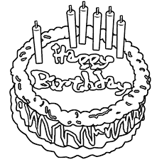 Drawn birthday colouring 8