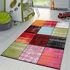 t t design teppich karo rot schwarz grau grün pink meliert modern wohnzimmer kinderzimmer größe 120x170 cm