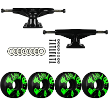Amazon.com : Tensor Black Trucks Bones Skateboard 100's Wheels ...