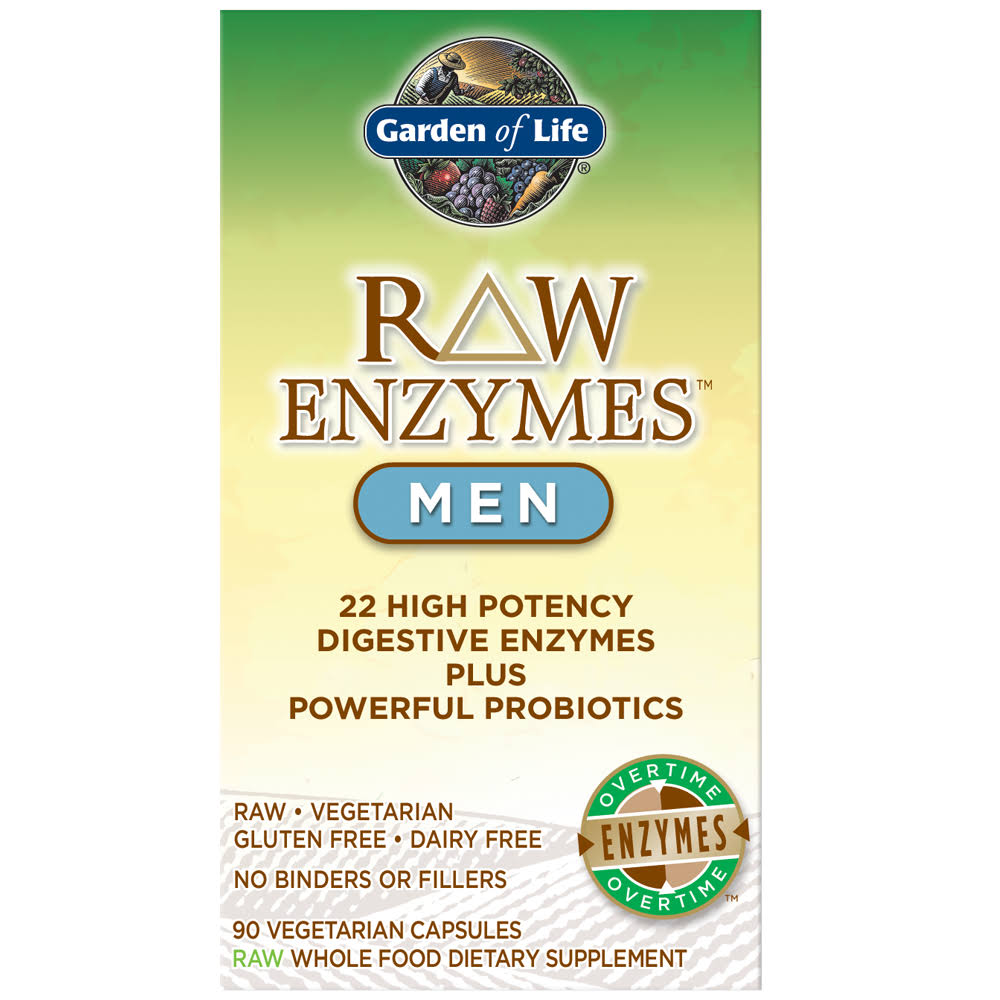 Garden of Life Raw Enzymes for Men Dietary Supplement - 90 Capsules