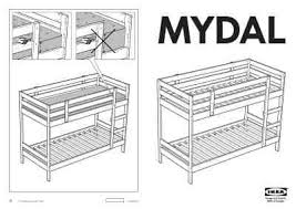 IKEA MYDAL BUNK BED FRAME TWIN Furniture user guide for