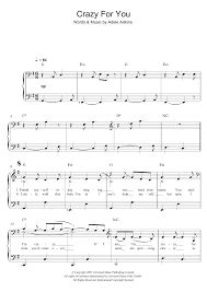 Rockin Around The Christmas Tree Piano Chords by Adele Crazy For You Sheet Music At Stanton U0027s Sheet Music