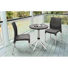 Piece Charcoal Resin Outdoor Patio Dining Bistro Set Table ... Adams Manufacturing Quikfold White Resin Plastic Outdoor Lawn Chair Semco Plastics Patio Rocking Semw 5 Pc Wicker Set 4 Side Chairs And Square Ding Table Gray For Covers Sets Tempered Round 4piece Honey Brown Steel Fniture Loveseat 2 Sku Northlight Cw3915 Extraordinary Clearance Black Bar Rattan Small Bistro Pa Astonishing And Metal Suncast Elements Lounge With Storage In