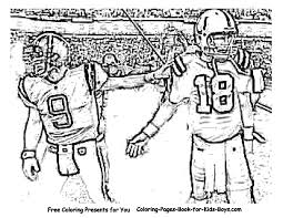 Football Game Coloring Pages