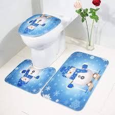 kuncg badteppich rutschfest wc vorleger badematten set 3