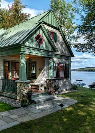 Farmhouse Houseplans Colors Lakeside Maine Cottage Tms Architects Vacation Home