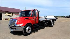 International 4300 JERR-DAN Rollback Tow Truck For Sale - YouTube