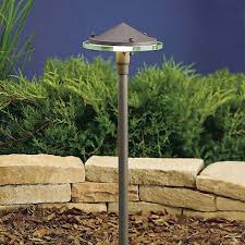 kichler 22 high glass and metal pathway landscape light 08947