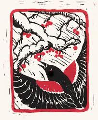 Tri Colored Blackbird Printed In Two Colors Circa 1984