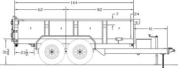 Big Tex Trailer 10LX Line Drawing