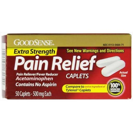 GoodSense Extra Strength Pain Relief Acetaminophen Caplets - 500mg, x50