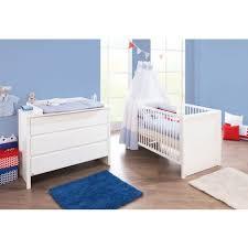chambre bebe bois massif set de 2 pièces pour chambre bébé avec lit à barreaux évolutif